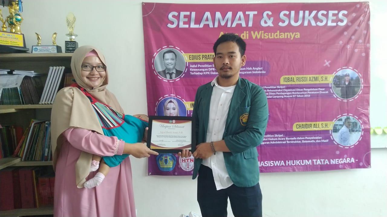 Pelepasan Mahasiswa Hukum Tata Negara Periode Juli 2019 Fakultas Hukum Universitas Lampung