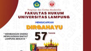 Dirgahayu Lampung Ke-57 Tahun