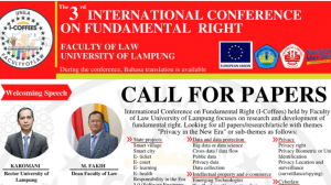 The 3rd INTERNATIONAL CONFERENCE ON FUNDAMENTAL RIGHT